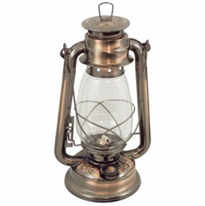 Lampe Tempete Bronze Vieilli Vernie 31 Cm Roi De Bretagne