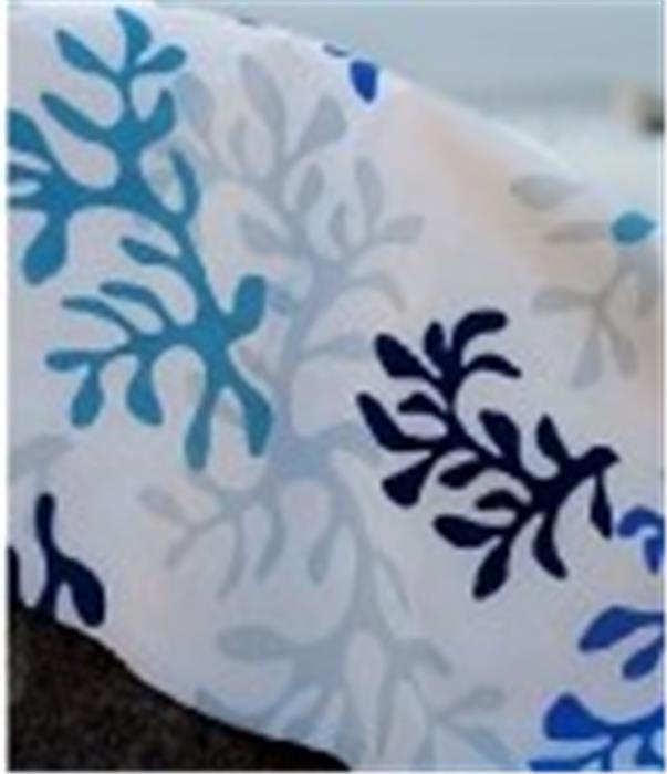 Serviette corail bleu 40x40 roi de bretagne - Serviette de table bleu roi ...