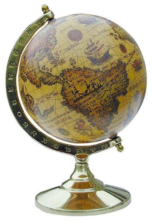 globe terrestre avec support bois et laiton roi de bretagne. Black Bedroom Furniture Sets. Home Design Ideas