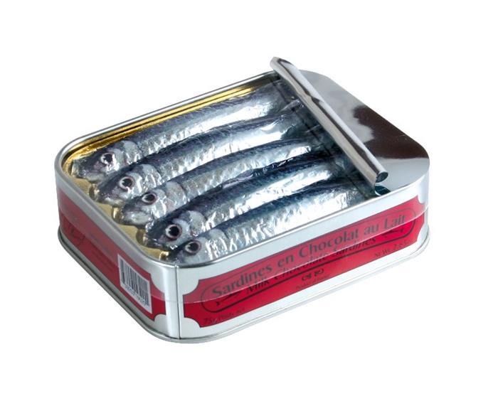 sardines en chocolat boite 75g roi de bretagne. Black Bedroom Furniture Sets. Home Design Ideas