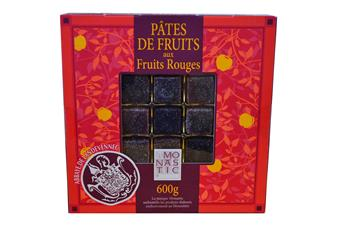PATES DE FRUITS COFFRET ROUGE AUX FRUITS ROUGES 600GR