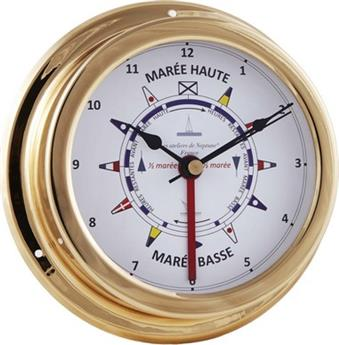 INDICATEUR MAREE/HORLOGE LAITON POLI VERNI DECOR DRAPEAUX COULEUR