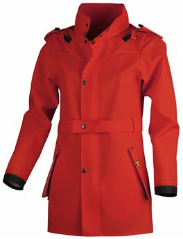 MANTEAU HECATE ROUGE