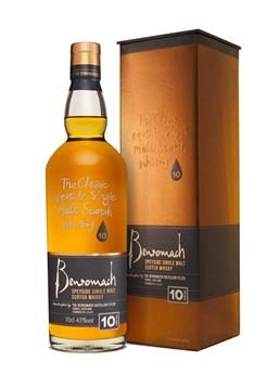 BENROMACH 10 ANS SINGLE MALT WHISKY 70CL 43°