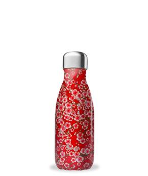 BOUTEILLE ISOTHERME INOX 260ML FLEUR ROUGE