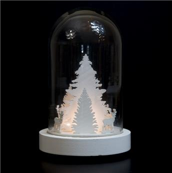 SCENETTE BLANCHE CLOCHE TREE DOME