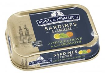SARDINES HUILE OLIVE ET AROMATES POINTE PENMARCH 115G