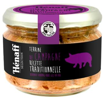 TERRINE DE CAMPAGNE RECETTE TRADITIONNELLE 180G HENAFF SELECTION