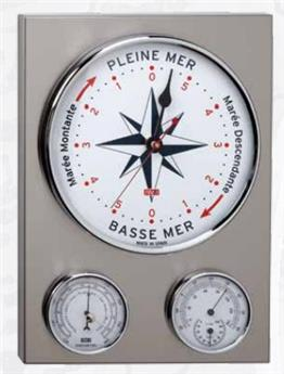 INDICATEUR DE MAREE BAROMETRE THERMOMETRE INOX