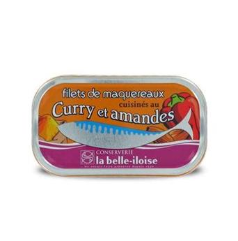 FILETS DE MAQUEREAUX CURRY ET AMANDES 112.5G  BELLE ILOISE