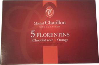 MINI FLORENTINS CHOCOLAT NOIR/ORANGE 30GR